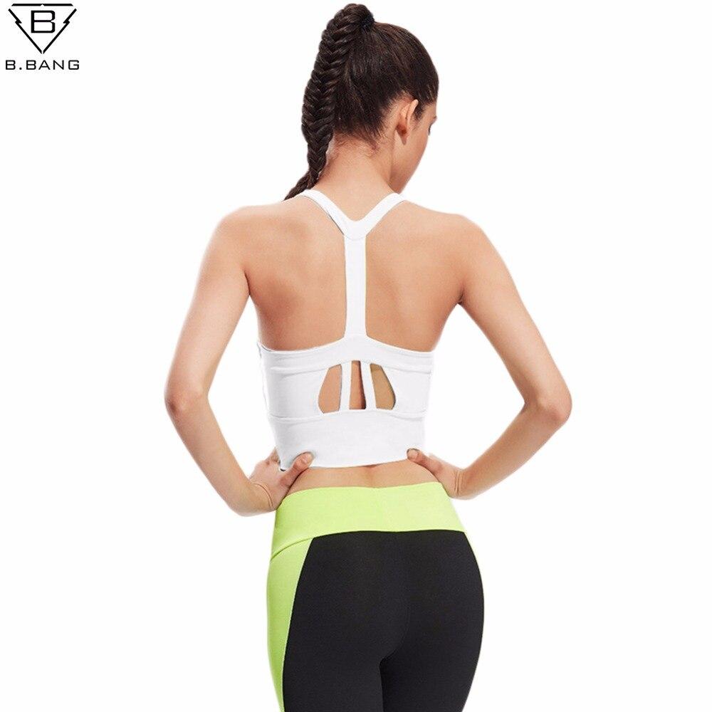 B. bang femmes sport professionnel soutien-gorge réservoirs tops  confortable soutien-gorge push up pour yoga sport running fitness vêtements  pour femmes bd7bfd70d4a