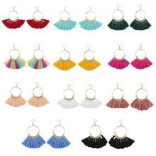 Trendy Classic Romantic Zinc Alloy Gold Women Long Hanging Dangle Tassel Drop Earrings