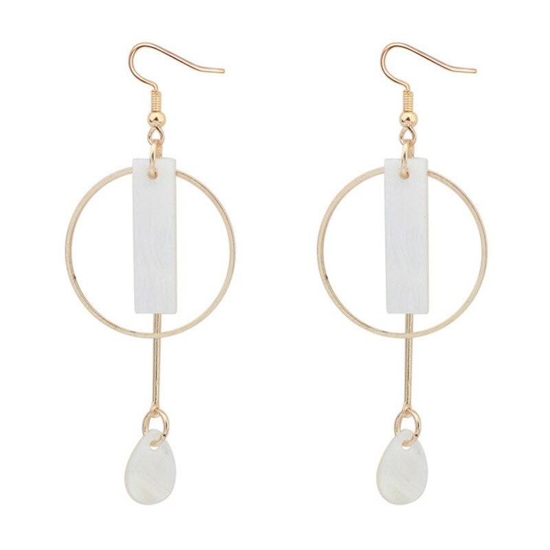 LPHZQH Women fashion jewelery square earrings Elegant geometric long drop earrings shell earrings Christmas birthday gift