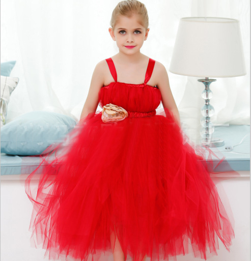 Rojo hermoso Vestido Infantil de Navidad 1 Año la Fiesta de ...