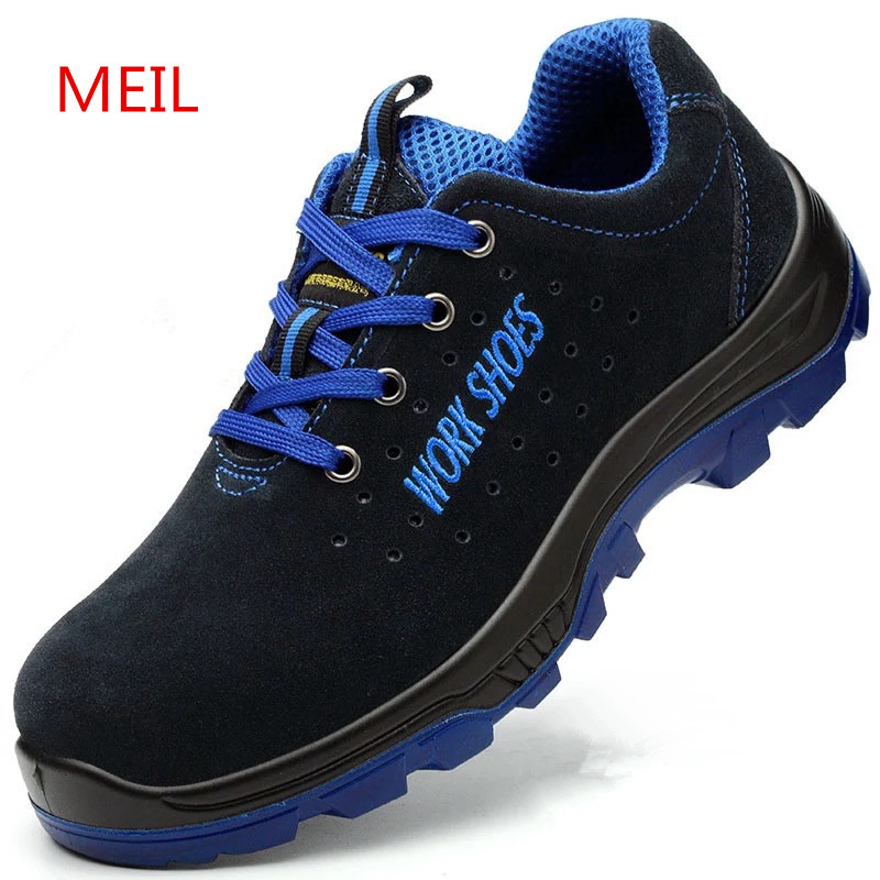 Для мужчин Рабочая безопасная обувь Сталь носком теплая дышащая Для мужчин; повседневные ботинки проколов труда страхования обувь Большие ...
