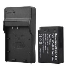 High Quality 1pc 1500mAh LP-E17 LPE17 LP E17 Camera Battery + USB Charger For Canon EOS M3 M5 750D 760D T6i T6s 8000D Kiss X8i