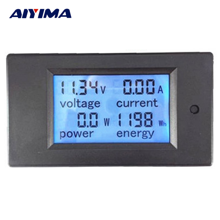 AIYIMA Digital Wattmeter DC6.5-100V 20A  4 in 1 Digital Voltage Current Power Energy Meter Large LCD Screen DC Voltmeter AmmeterAIYIMA Digital Wattmeter DC6.5-100V 20A  4 in 1 Digital Voltage Current Power Energy Meter Large LCD Screen DC Voltmeter Ammeter