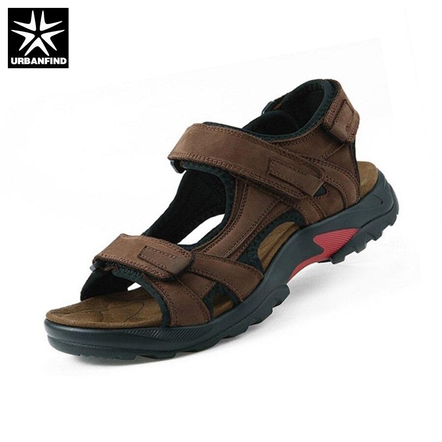 Qualidade superior homens sandália sandálias de verão sandálias de couro genuíno dos homens sapatos ao ar livre sandálias de couro dos homens plus size 46 47 48
