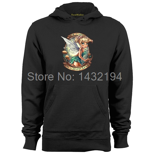Tinkerbell Those Who Wander Peter Pan Tattoo Pin Up Princess Mens & Womens Casual Hoodies Sweatshirts