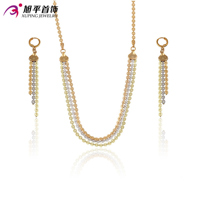 Xuping Fashion Sets 2016 Top Sale Luxury Style Jewelry Sets Multicolor Plated for Women Party Promotion Gift 63437