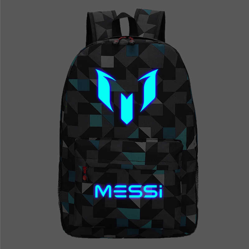 Messi Backpack Teen College high School Bag for Teenager Boy schoolbag Black men Back pack Kids Book Bag 2019