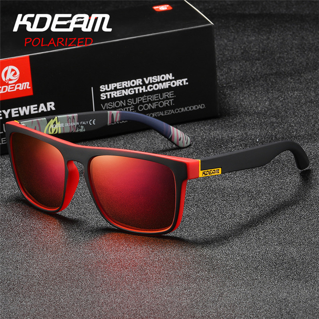 ff3665289c KDEAM Quick style Polarized Sunglasses Men Square Sun Glasses Polaroid lens  Women Brand Designer eyewear Driving With case KD156