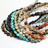 """Pick style 1Strand 16""""(40pcs)Natural stone Coin Loose Beads 10mm*5mm (w03005-w03018)Free Shipping"""
