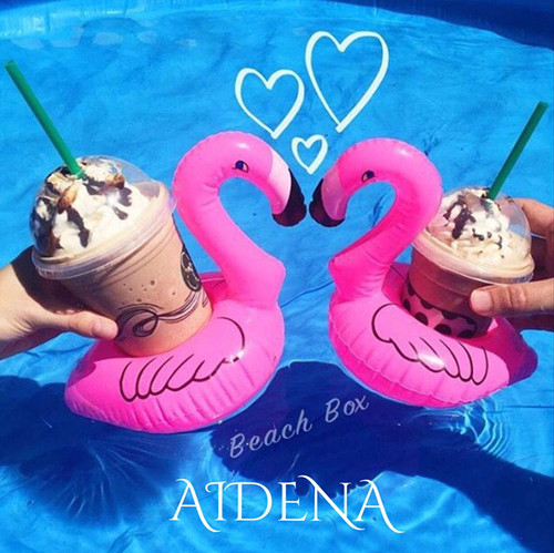 1 Pair (2pcs) Mini Inflatable Flamingo for Wedding Party Pool Instagram Ins Photo Floating Drink Holder Summer Hot Swimming Toys