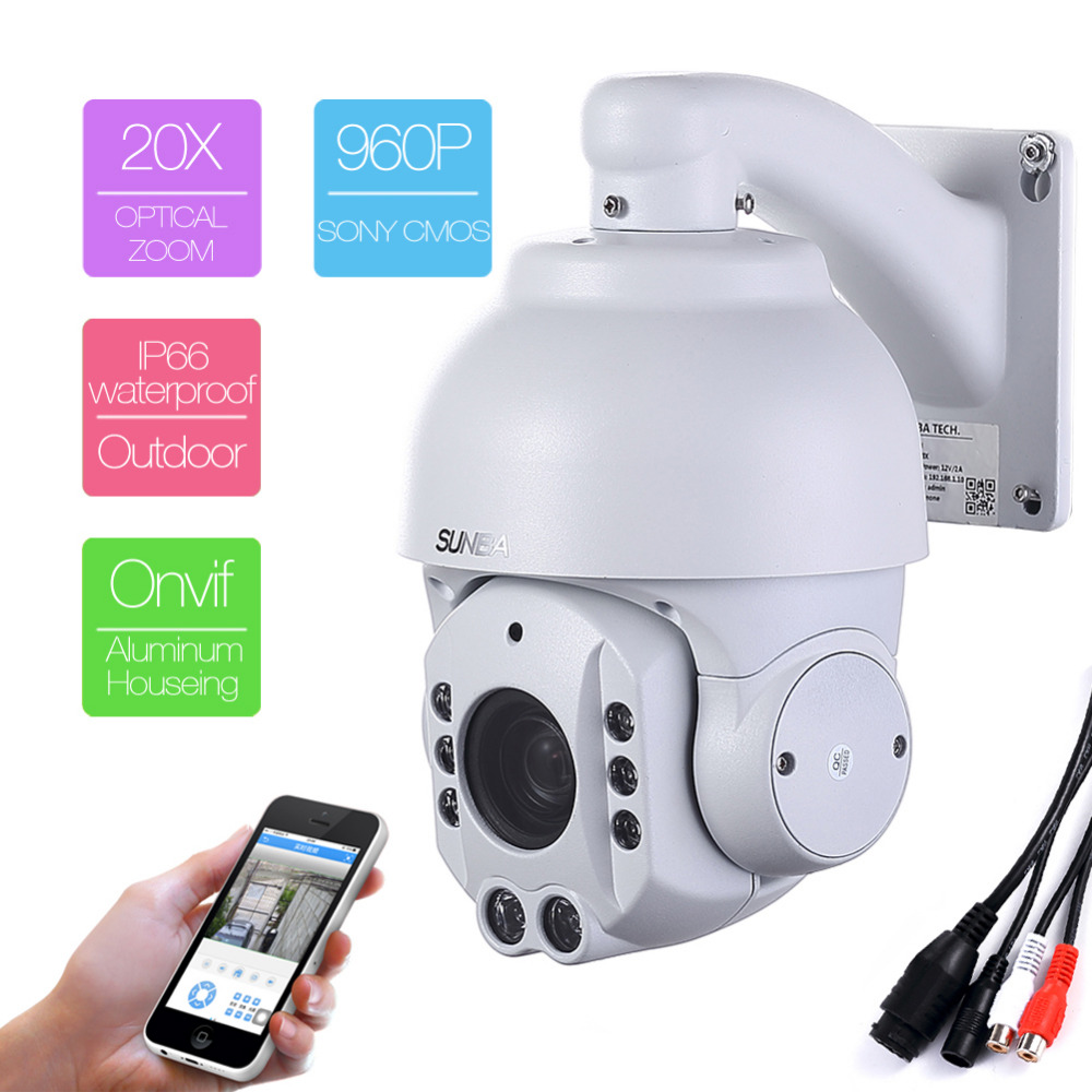 507-20XA P2P audio Zoom Outdoor Mini IR-CUT 1.3MP HD 960P IP Network PTZ Speed Dome P2P Onvif Security Camera Aluminum Houseing poe audio hd 1 3mp 960p outdoor ir network ip camera 36 ir security onvif 2 1 p2p