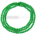 Topearl Jewelry Round 8mm Green Malaysia Jade Long Rope Necklace 54 Inch JN047