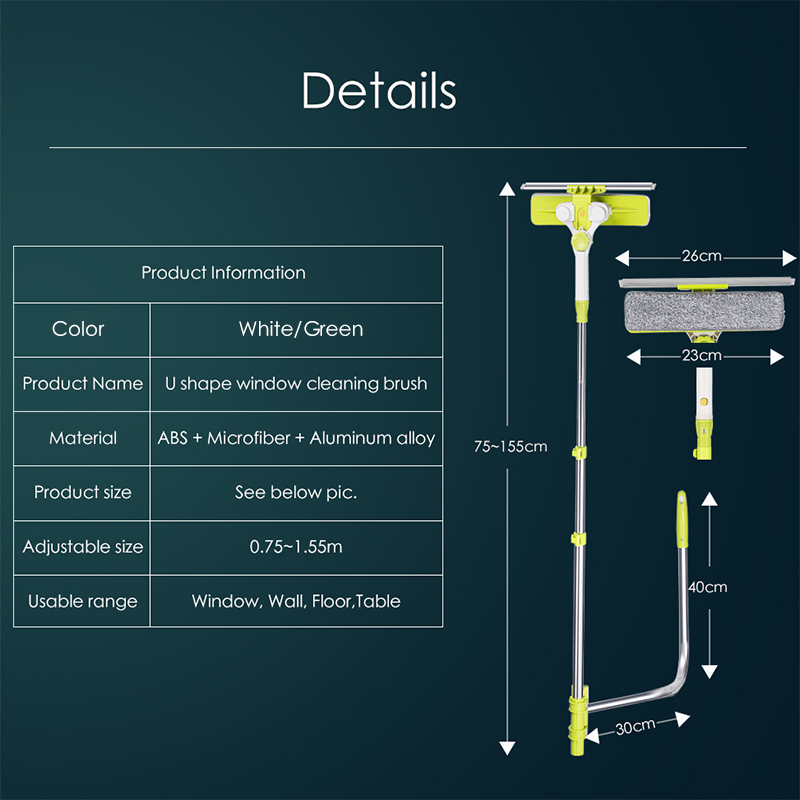 Image 2 - High rise Window Cleaning Glass Cleaner Brush For Washing Window  Squeegee Microfiber Extendable Window Scrubber Cleaning RobotCleaning  Brushes