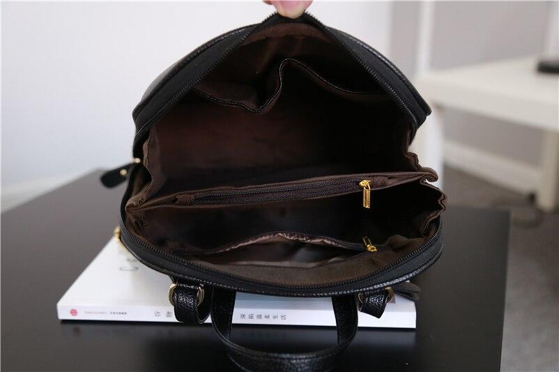 Nevenka Women Leather Backpack Tassel Female Travel Backpack Black Handle Backpacks for Girls School Bag Summer Backpacks 201808