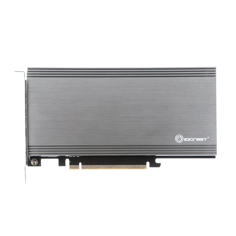 Add On Card Dual M 2 NVMe Port to PCIe 3 0 x16 Bifurcation Riser Controller  Support Non-bifurcation Motherboard ASMedia2824 Chip