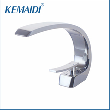 KEMAIDI Sink Faucets Basin Faucets Waterfall Faucet Single Handle Basin Hot &Cold Mixer Tap Bathroom Faucet Sink Chrome Finish