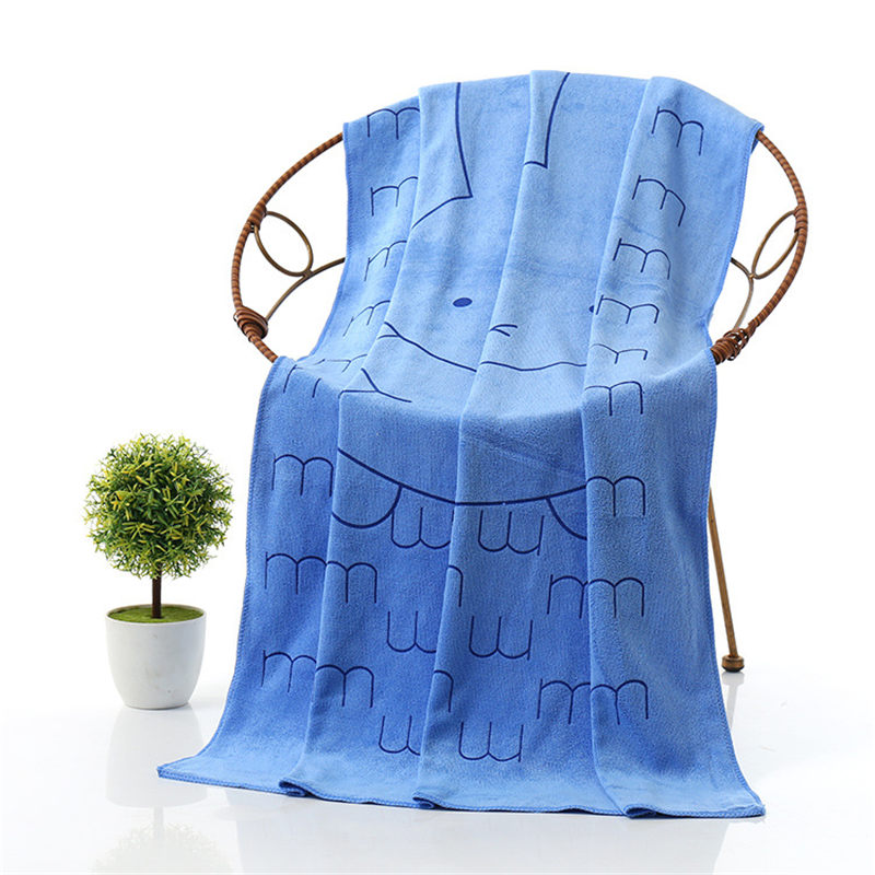 New Rabbit Head Printing Microfiber Fabric Bath Towel High Quality Quick-dry Absorbent Beach Bath Towels Towels Bath Towels