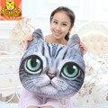 Hot 3D Printed Brand Cat Head Pillow Decor Plush Pillow Home Store Sofa Cushion Decor Decoration Cushion Free Shipping