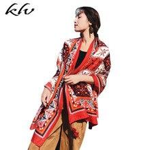 купить Women Boho Tassels Wrap Scarf Oversized Sunscreen Beach Shawl Colorful Geometric Floral Print Bikini Cover Up Blanket дешево