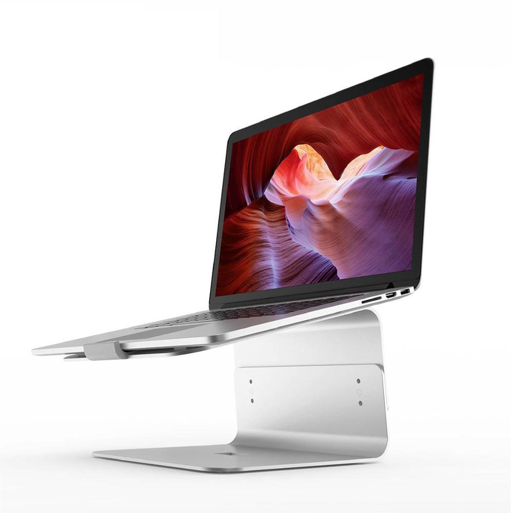 Support pour ordinateur portable pour Macbook ordinateur de bureau ascenseur dissipation thermique ajustement augmentation support en alliage d'aluminium