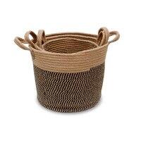 Linen Toy Storage Basket Jewelry Basket Foldable Toy Organizer for Nursery Storage, Kid's Toy & Laundry Gift Baskets Decor Box