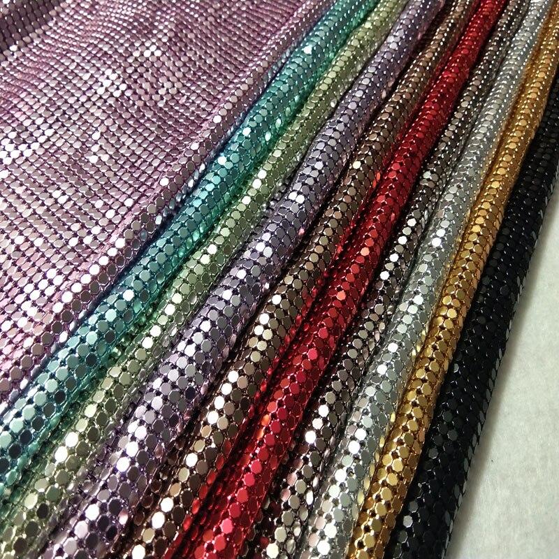 ZYOKRA 10 Цвета для выбора ткань с металлическими пайетками металлическая ткань Металл блесток ткань с блестками 50x42 см Шторы скатерть домашнег