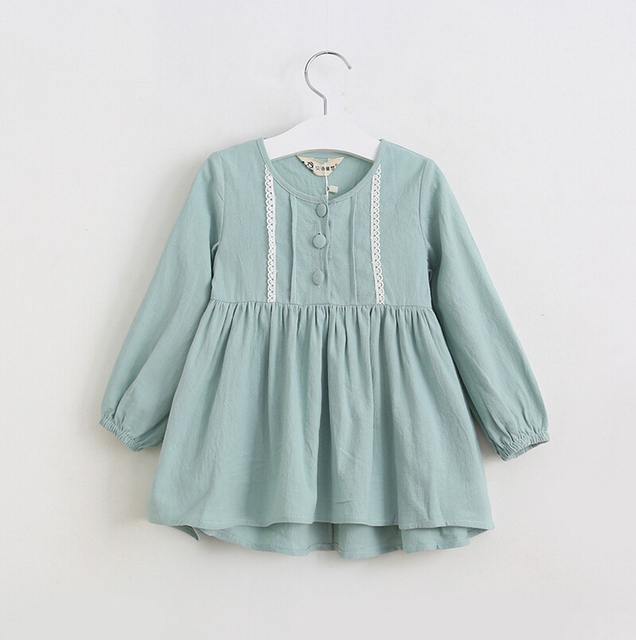 1c97029e9 Baby Girls Cotton Lace Blouse Dresses, Princess Kids Fall Elegant Long  Sleeve Dress Wholesale 6 pcs/lot,
