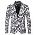 Blazers masculinos de Lazer Da Moda Camuflagem Impresso Jaqueta Mens Slim Fit Vestir Casacos De 2016 Outono Homens Blazer Designs Terno Cáqui