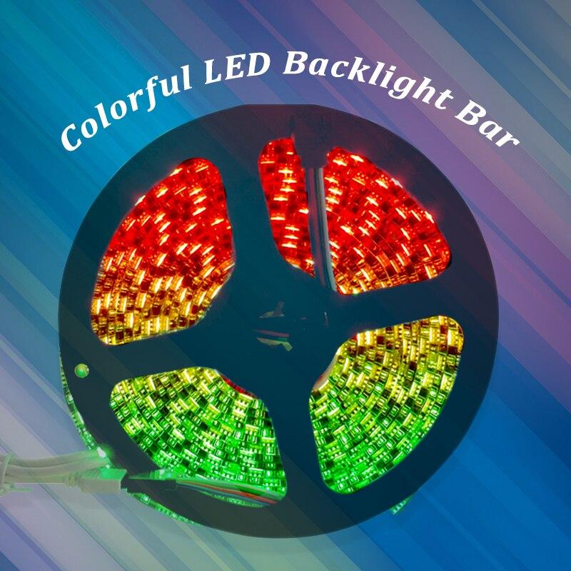 5050 RGB Led Light strips 5M Roll 60LEDs/M Double PCB 3 Chips DC12V Super Bright Led Tape Light for Homes, Kitchen Cabinet Light