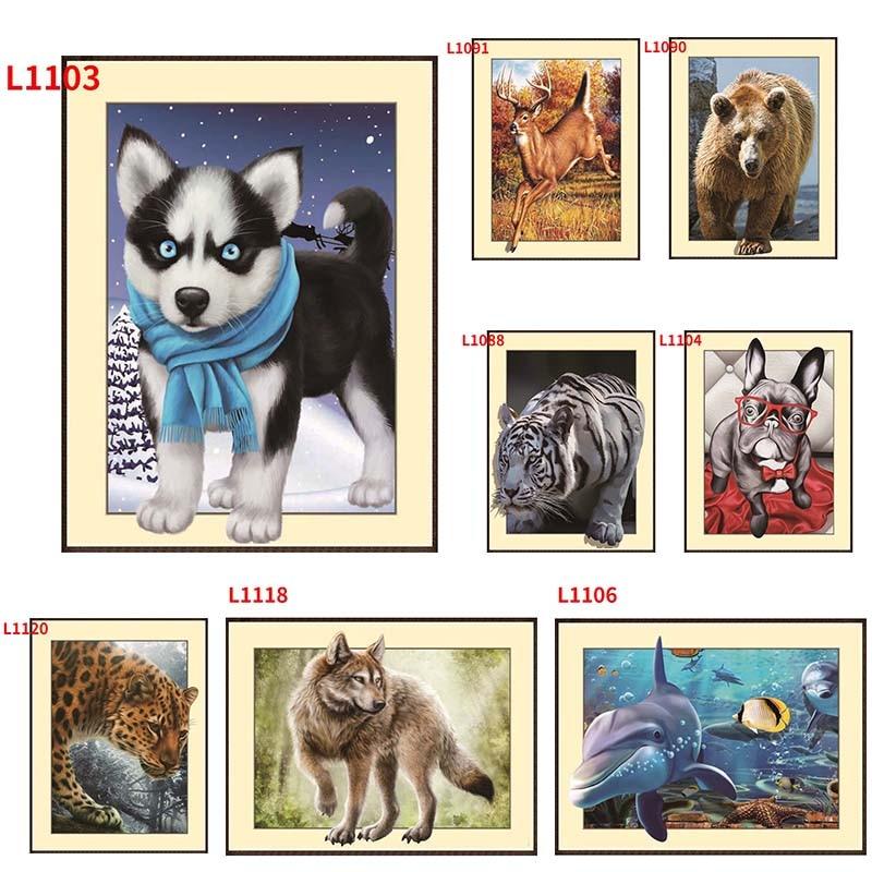 5D pintura diamante animal bordado bricolaje punto de cruz - Artes, artesanía y costura