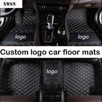 custom logo car floor mats for Cadillac all models ATS CT6 SLS XT5 SRX CTS Escalade CT6 ATSL XTS car accessories car mats