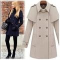 2016 slim wool coat autumn and winter women wool cloak jacket british style woolen outerwear