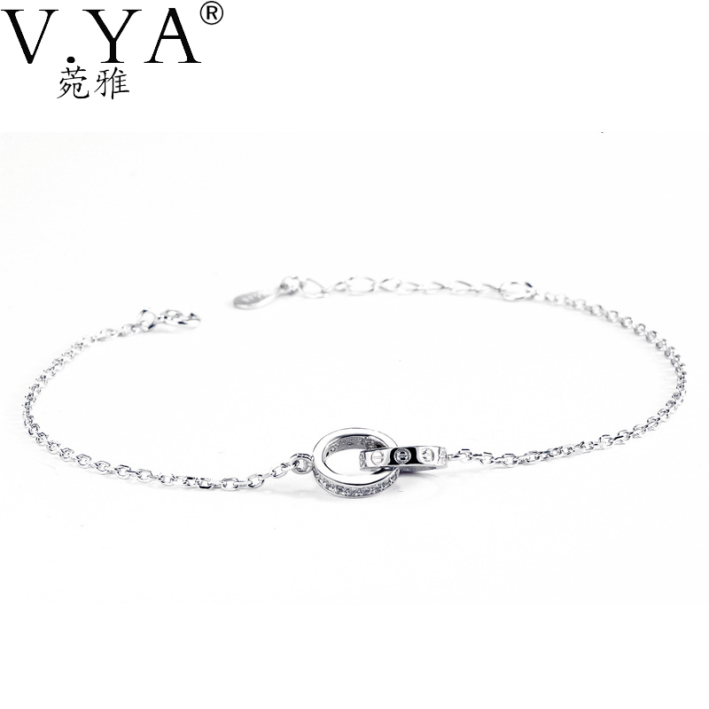 100% Real 925 Sterling Silver Bracelet for Women Jewerly High Quality Link Chain S925 Solid Silver Bracelets CB55