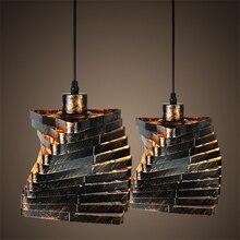 Vintage kreatywny klatka abażur wisiorek światło Loft rosja lampa wisząca żelazo Retro E27 lampa wisząca do kuchni Cafe dekoracja baru