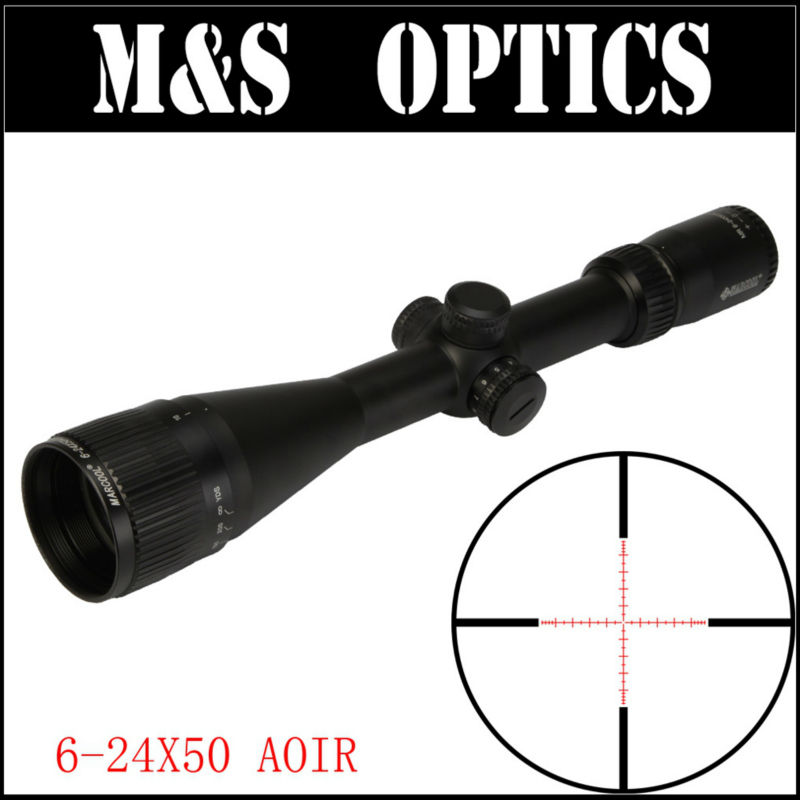 Marcool Optical Sight ALT 6-24x50 AOIR Airgun Air Rifle Hunting Sights Scopes Riflescope For Rifles marcool alt za3 5 25x56 sfir riflescope