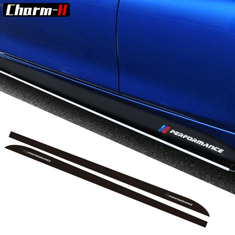 Car Styling Newest M Performance Side Stripe Skirt Sill Sticker Decal for BMW f30 f31 x5 f15 f85 e60 e61 f22 f23 f10 f11 f01 f02 car styling auto amg sport performance edition side stripe skirt sticker for mercedes benz g63 w463 g65 vinyl decals accessories