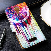 Painted PU Leather Cases For Micromax AQ5001 Canvas Juice 2 AQ 5001 Covers Card Holders Phone Bags TPU Shell Wallet Flip Holster