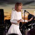 Taylor Celebrity Short White Dress New I Heart Radio 1989 Album Release Show Prom Dresses With Long Sleeve Crystal Beaded Stain