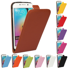 Genuine Leather Case For Samsung Galaxy S3 S4 S5 mini S2 S7 S6 Edge Plus Note 2 3 4 Magnetic Buckle Vertical Flip Phone Cover