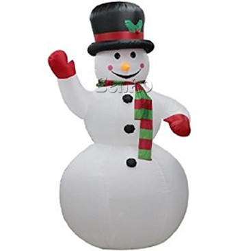 X138  Inflatable Christmas snowman Waving Hand Inflatable Snowman for Christmas Decoration Cute Inflatable Decoration