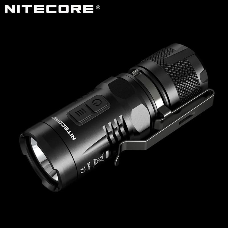 Original NITECORE EC11 900 lumens EDC Torch Mini CREE LED Clip Pocket Flashlight with Red Light