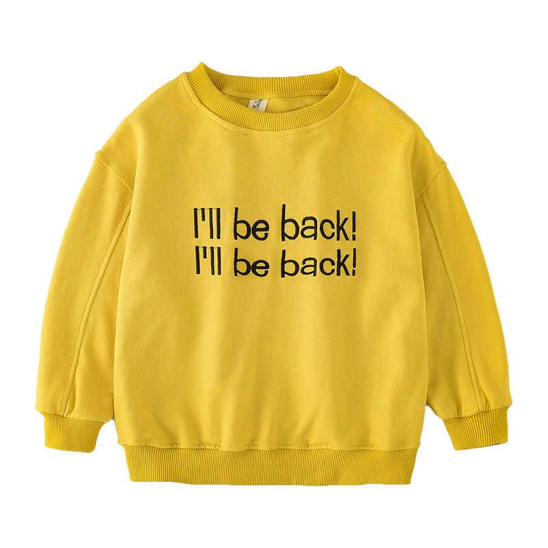 בני נוער טי חולצה עבור בנות אביב ארוך שרוול ילדי חולצות 2019 חדש קוריאני תינוקת Tshirt פעוטות ילדה כותנה סווטשירט 8 12