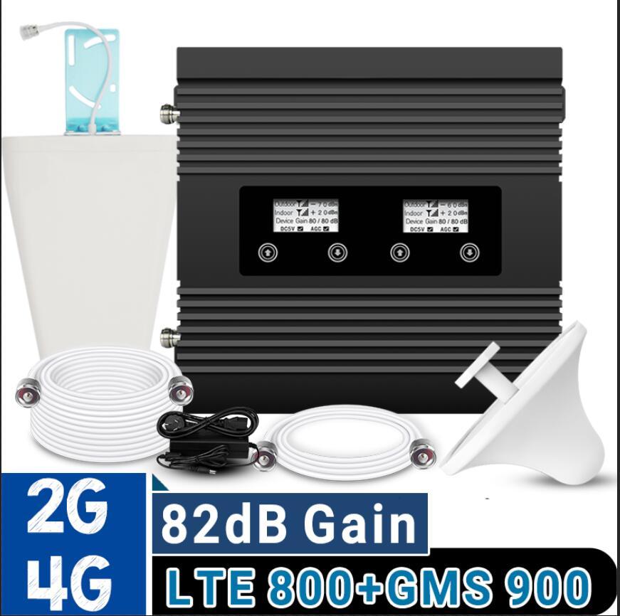 ATNJ Power 4G LTE 800 GSM 900 répéteur de Signal bande de Gain 82dB 20 deux amplificateur de Signal cellulaire à affichage LCD ensemble d'amplificateur GSM 4G LTE