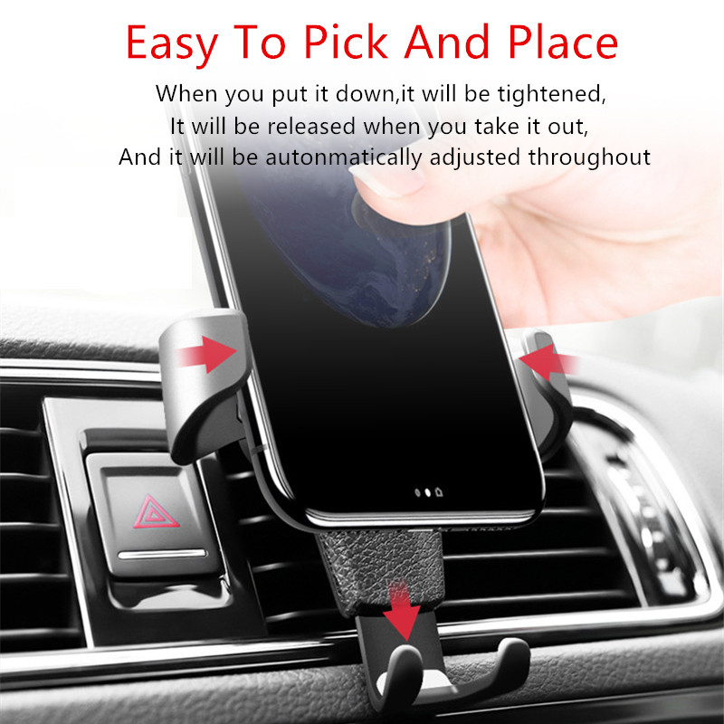 HTB1gNYfKbSYBuNjSspiq6xNzpXa5 - Car Phone Holder For Phone In Car Air Vent Mount Stand No Magnetic Mobile Phone Holder Universal Gravity Smartphone Cell Support