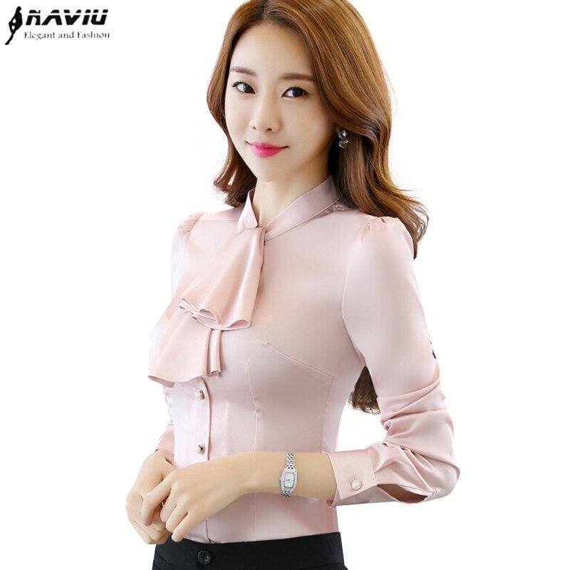 Buy Ruffles Casual Women Blouse Female Shirt Tops Office Ladies