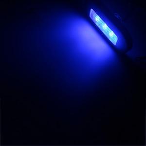 Image 5 - 12В Морская Лодка Светодиодное освещение RV синий/белый нержавеющая сталь якорь кормовой свет
