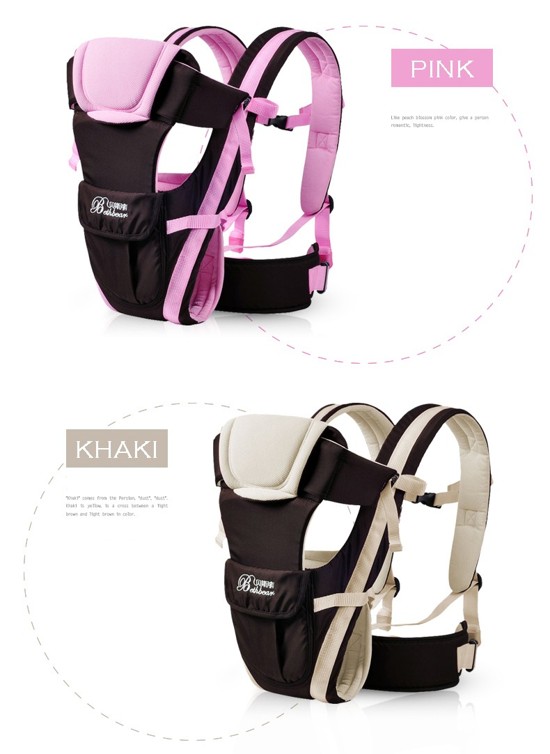 2-30 Months Breathable Multifunctional Front Facing Baby Carrier Infant Sling Backpack Pouch Wrap Baby Kangaroo_11111