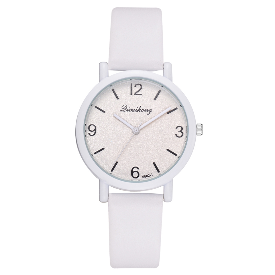 2018 New Famous Brand Women Simple Fashion Leather Band Analog Quartz Round Wrist Watch Watches Relogio Feminino Clock LS1029 2017 new brand fashion quartz watch famous women black and white gril clock leather strap watches relogio feminino lz710