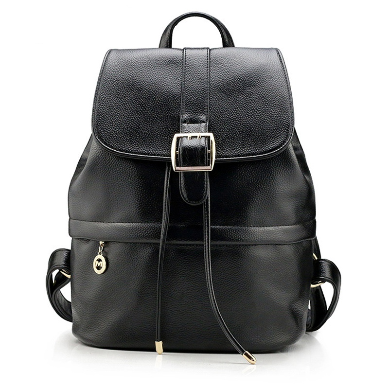 Fashion Women Backpack Genuine Leather College Wind Students Backpacks For Teenagers Girls Schoolbag Travel Bag Mochila