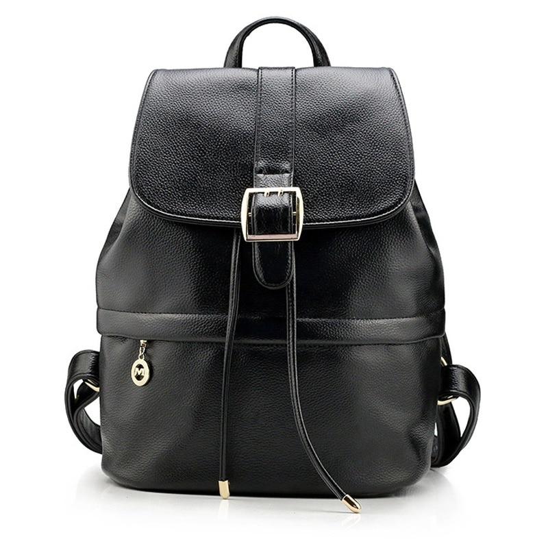 b3b038e480d Fashion Women Backpack Genuine Leather College Wind Students Backpacks For Teenagers  Girls Schoolbag Travel Bag Mochila Feminina